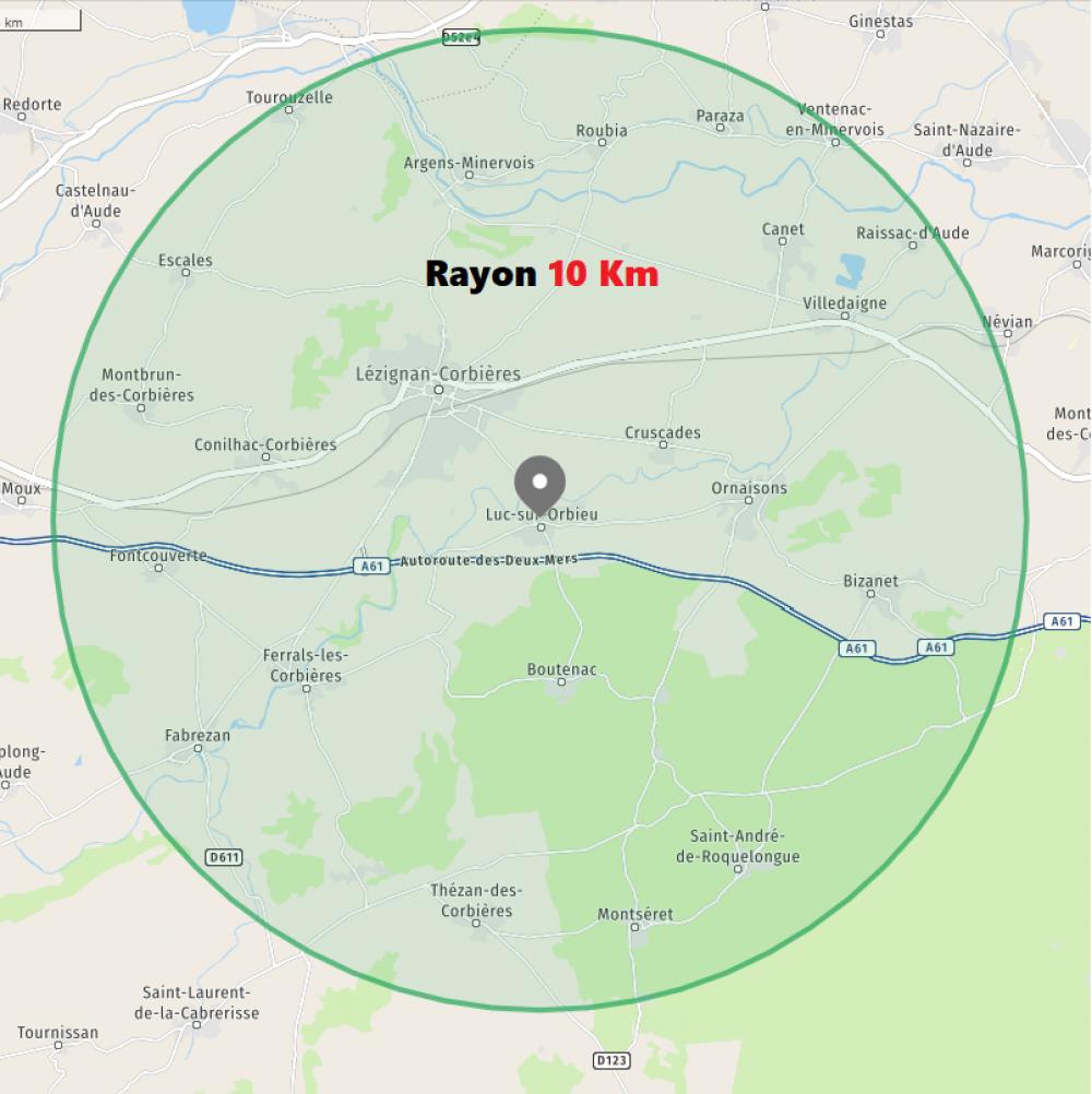 Luc sur Orbieu : Le rayon de déplacement de 10 km autorisé sans attestation