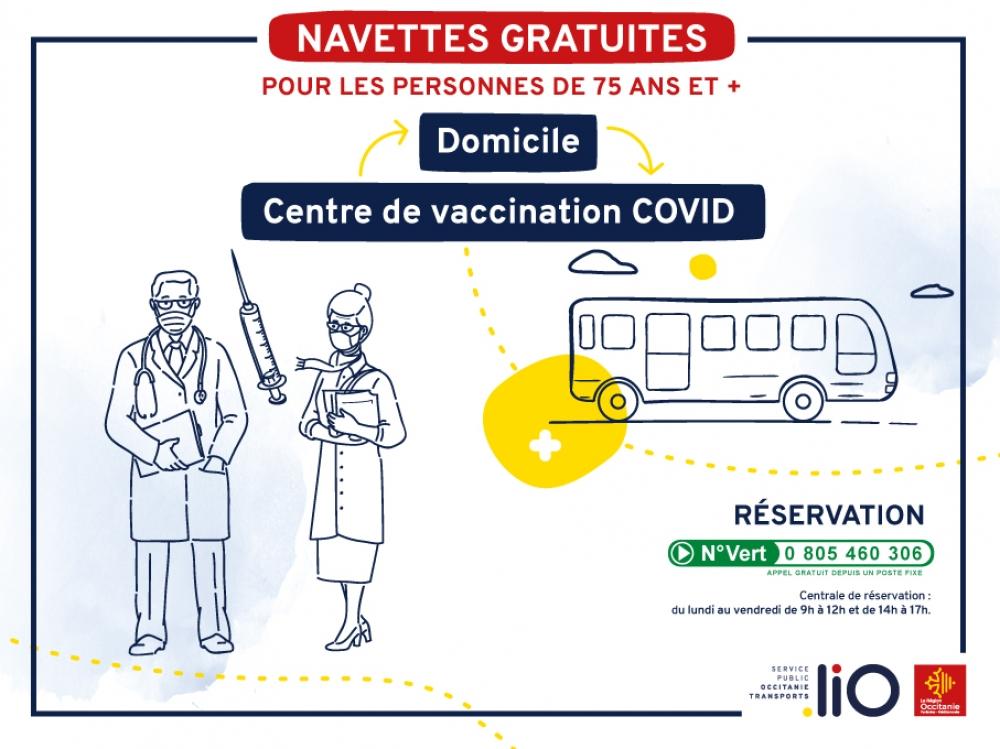 COVID-19 Vaccination : Navette gratuite pour les 75 ans et +