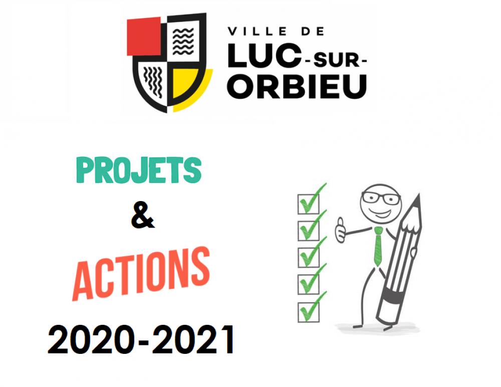 Les projets et les actions 2020-2021 réalisés par votre municipalité