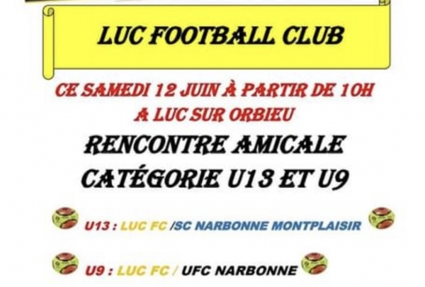 Football match Luc FC vs Narbonne à 10h